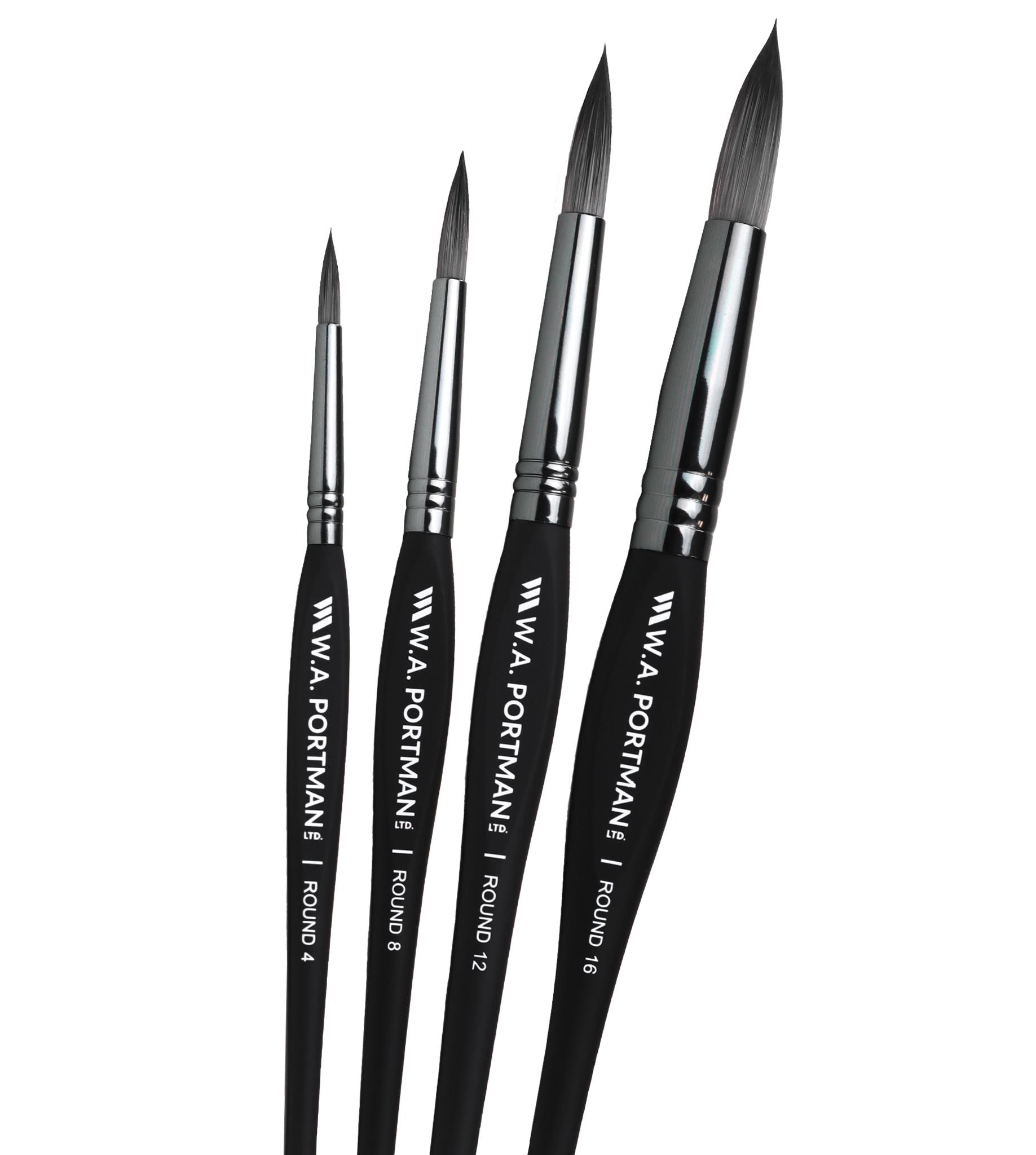 W.A. Portman Round Brushes 4pc