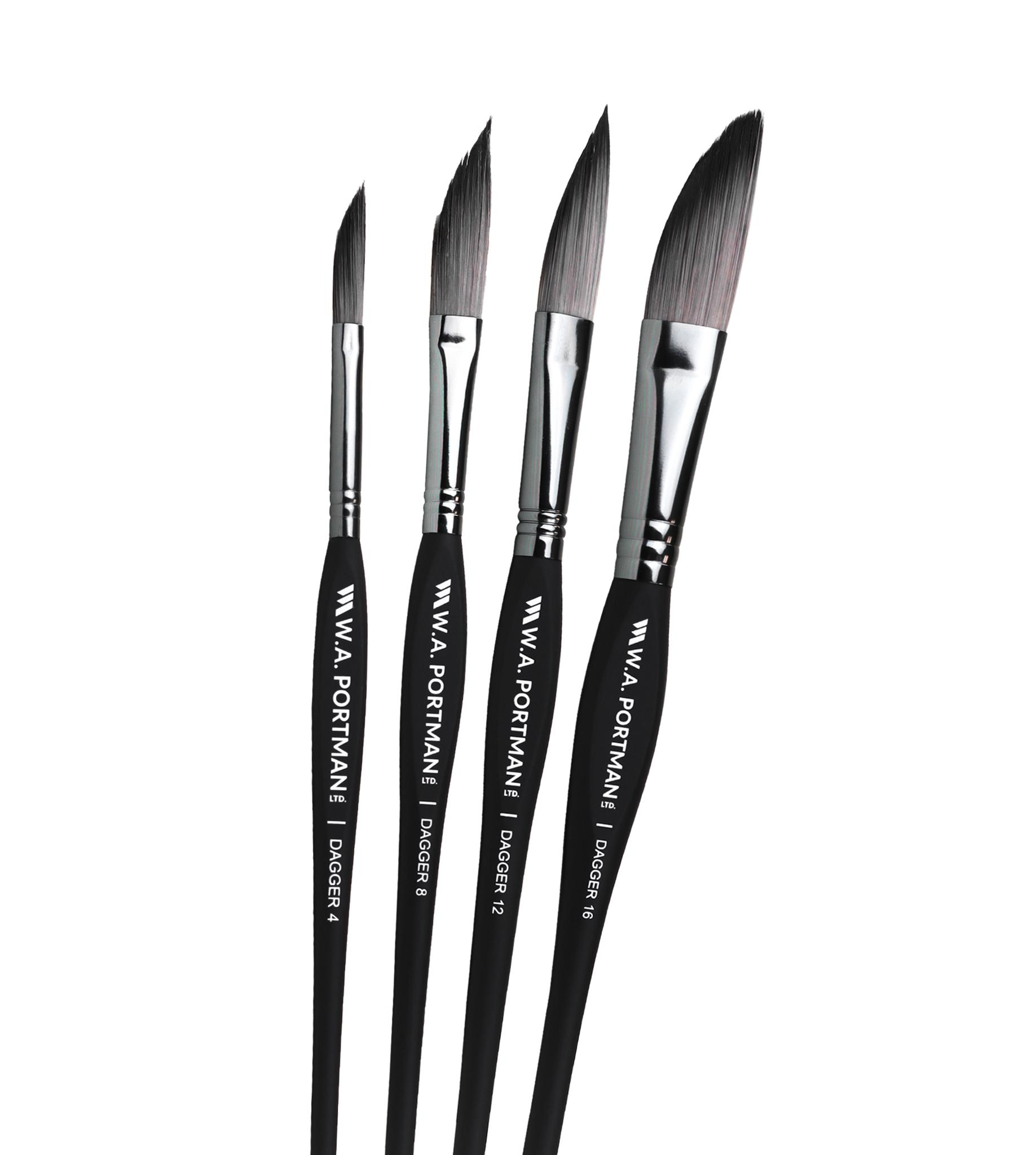 W.A. Portman Dagger Brushes 4pc
