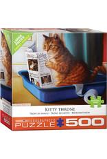 "Eurographics ""Kitty Throne"" 500 Piece Puzzle"