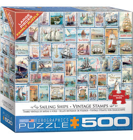 "Eurographics ""Sailing Ships Vintage Stamps"" 500 Piece Puzzle"