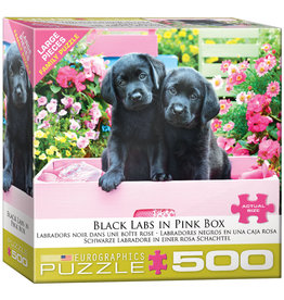 "Eurographics ""Black Labs in Pink Box"" 500 Piece Puzzle"