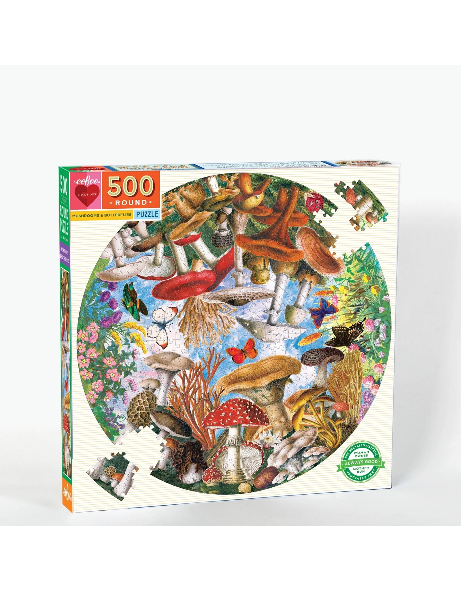 "eeBoo ""Mushrooms & Butterflies"" 500 Piece Puzzle"