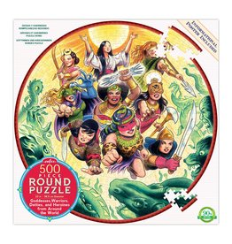 "eeBoo ""Goddesses and Warriors"" 500 Piece Round Puzzle"