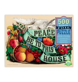 "eeBoo ""Peace be to this House"" 500 Piece Foil Puzzle"