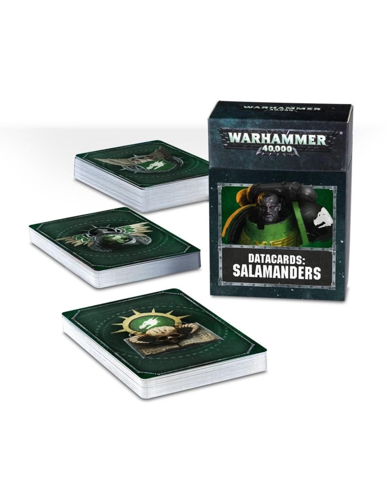 Games Workshop Salamanders: 8th Ed Datacards