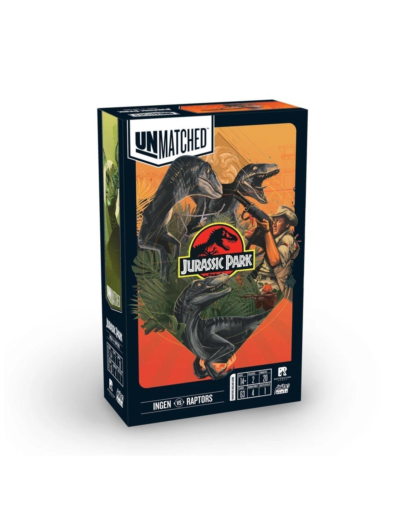 Restoration Games Unmatched: Jurassic Park - InGen vs. Raptors