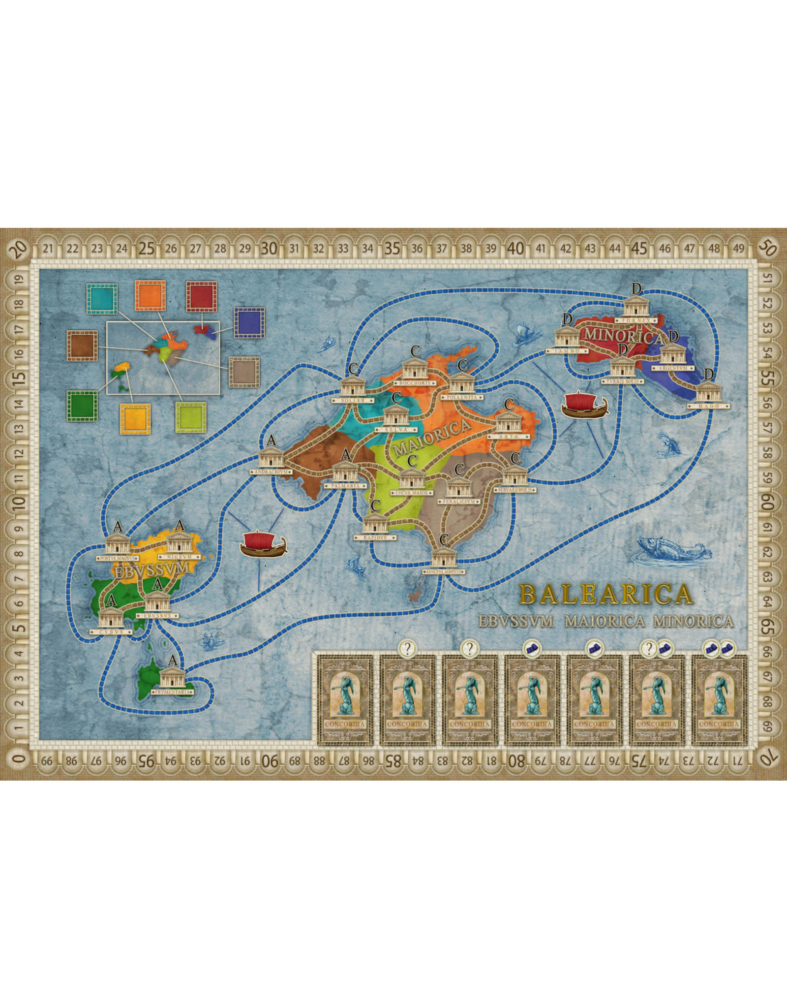 Rio Grande Games Concordia Venus: Map Expansion