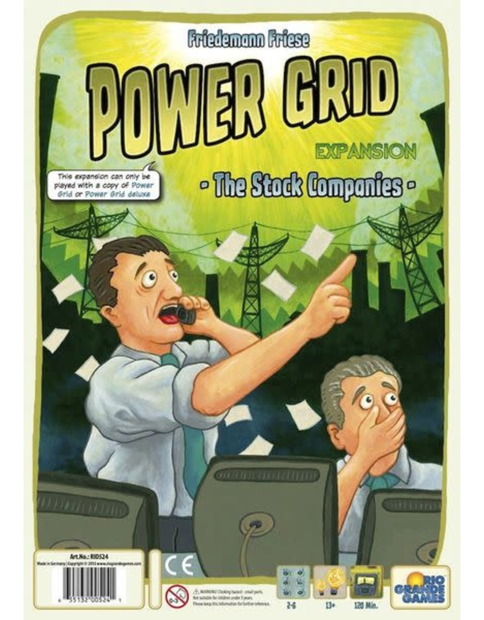 Rio Grande Games Power Grid: The Stock Companies Expansion