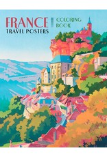 Pomegranate France: Travel Posters Coloring Book