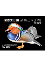 Pomegranate Intricate Ink: Animals in Detail Coloring Book