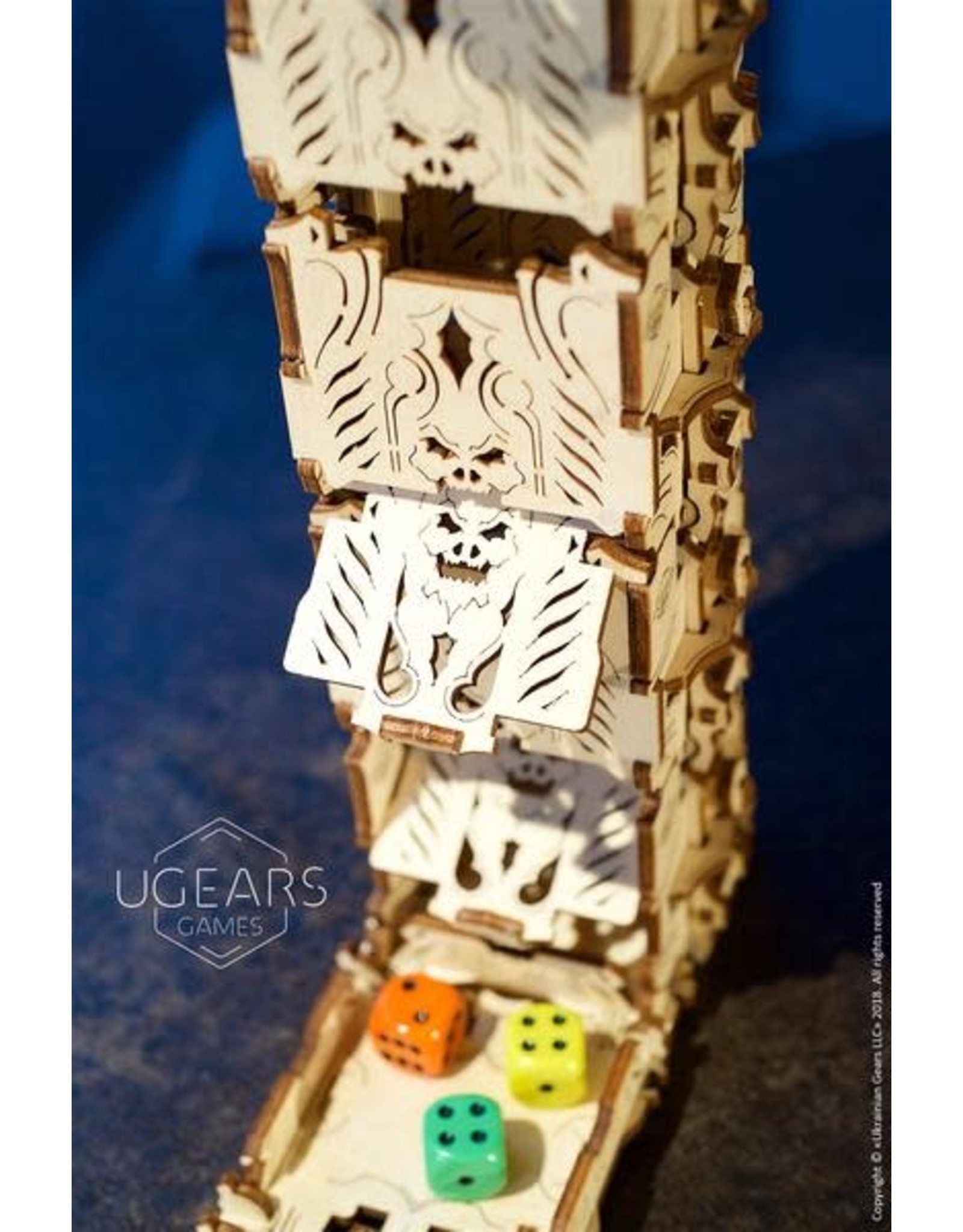 UGears Modular Dice Tower Wood Model