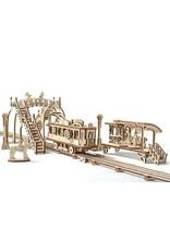 UGears Mechanical Town: Tram Line Wood Model