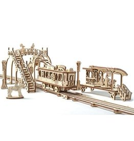 UGears Mechanical Town: Tram Line Wood Model