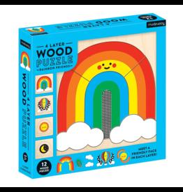 Mudpuppy Rainbow Friends 4 Layer Wood Puzzle
