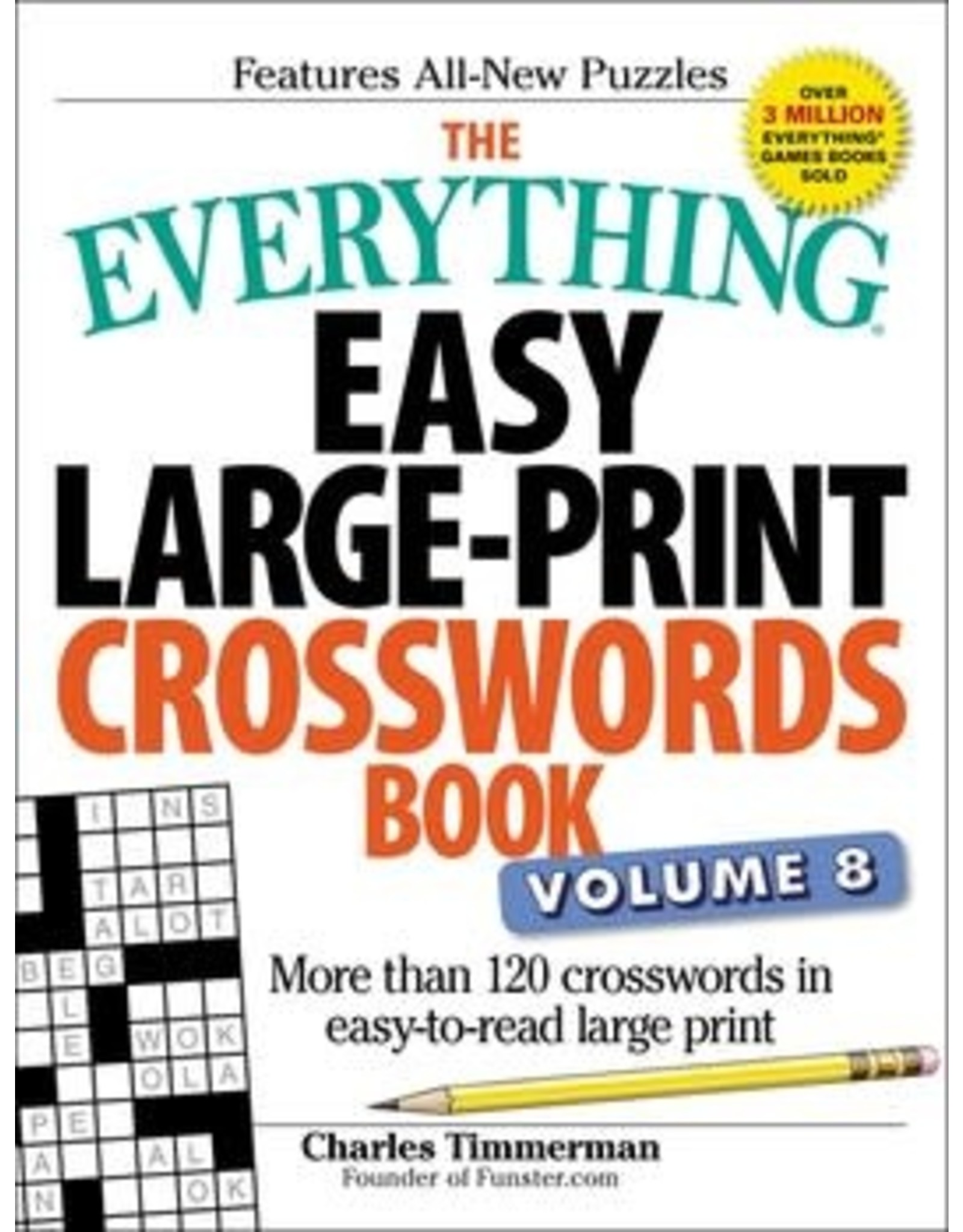 Simon & Schuster The Everything Easy Large Prints Crosswords Book Vol.8