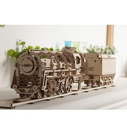 UGears Locomotive with Tender Wood Model