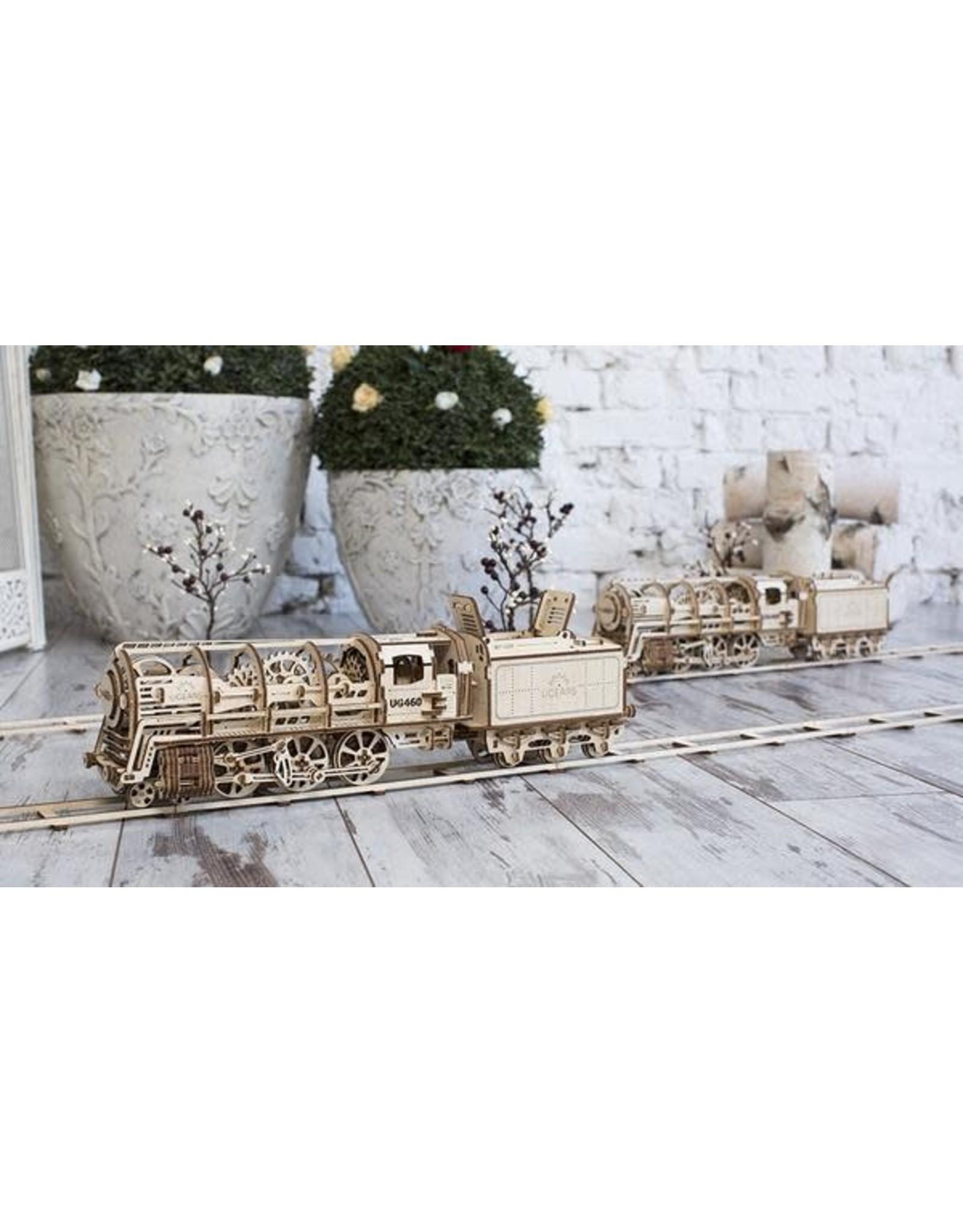 UGears Locomotive with Tender Wood Model