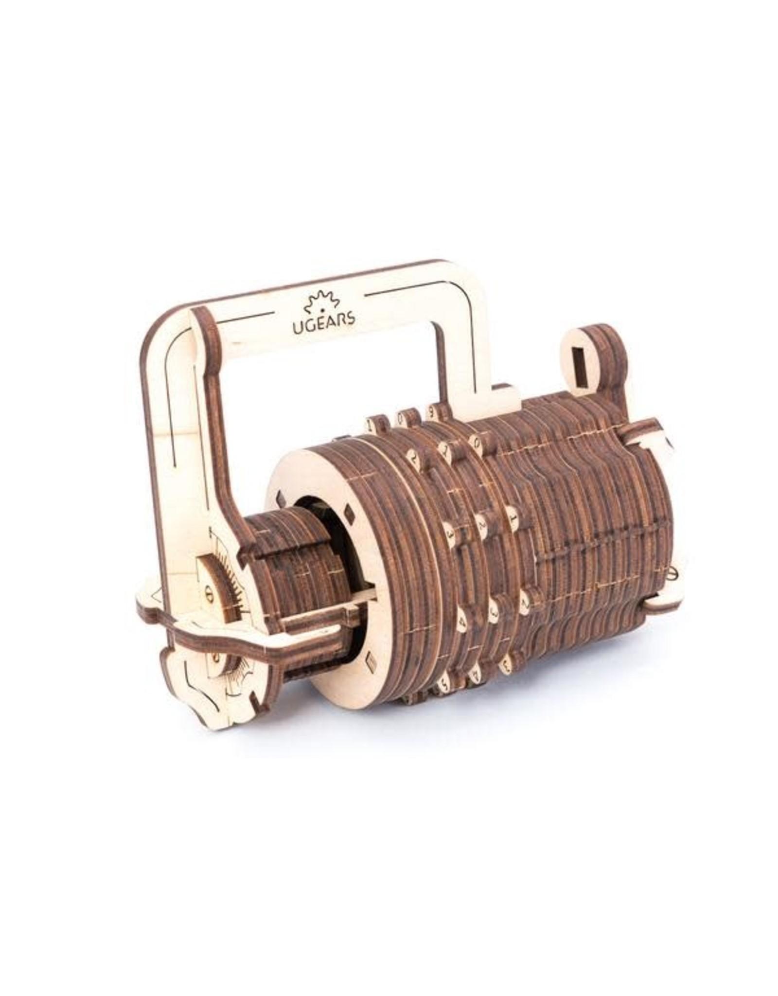 UGears Combination Lock Wood Model