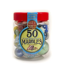 House of Marbles Tub of 50 Marbles