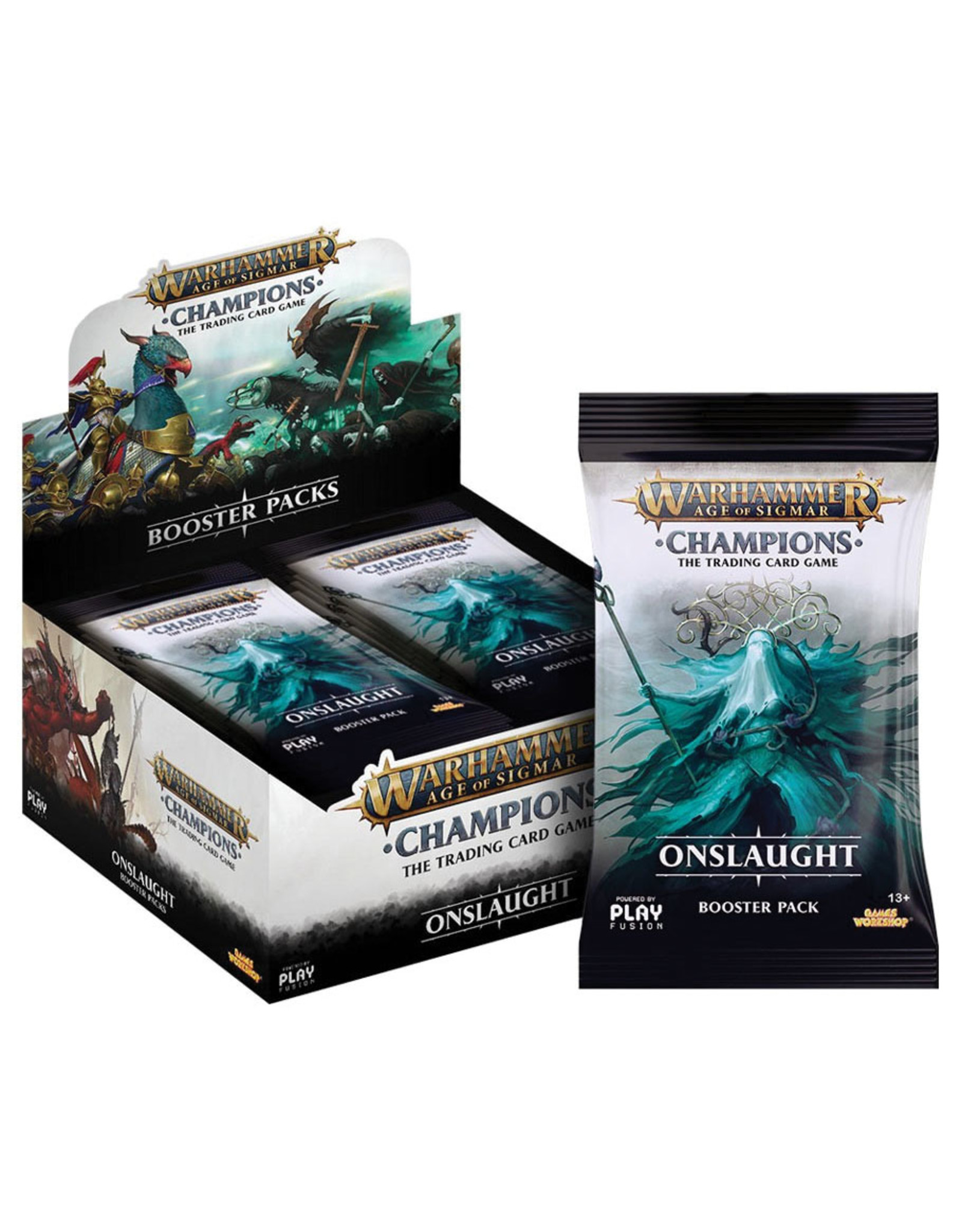 Playfusion, INC Warhammer: Age of Sigmar TCG - Onslaught Booster Pack