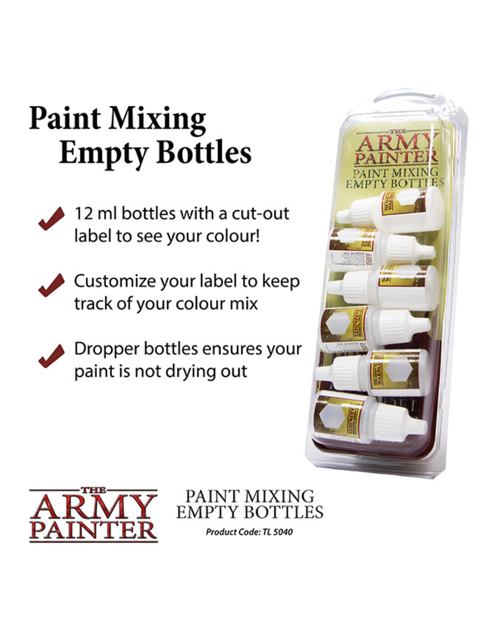 Army Painter Empty Paint Bottles