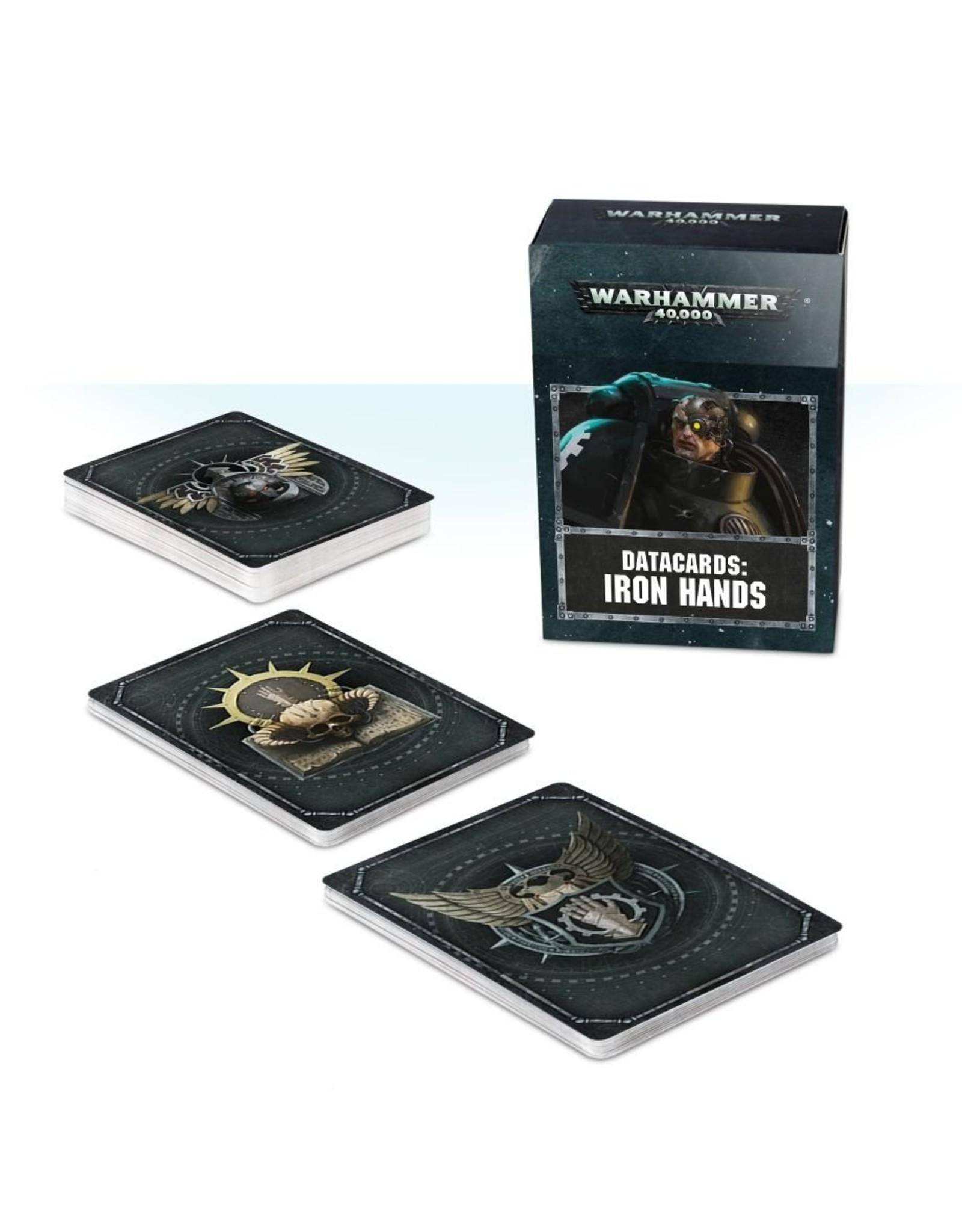 Games Workshop Iron Hands: 8th Ed Datacards