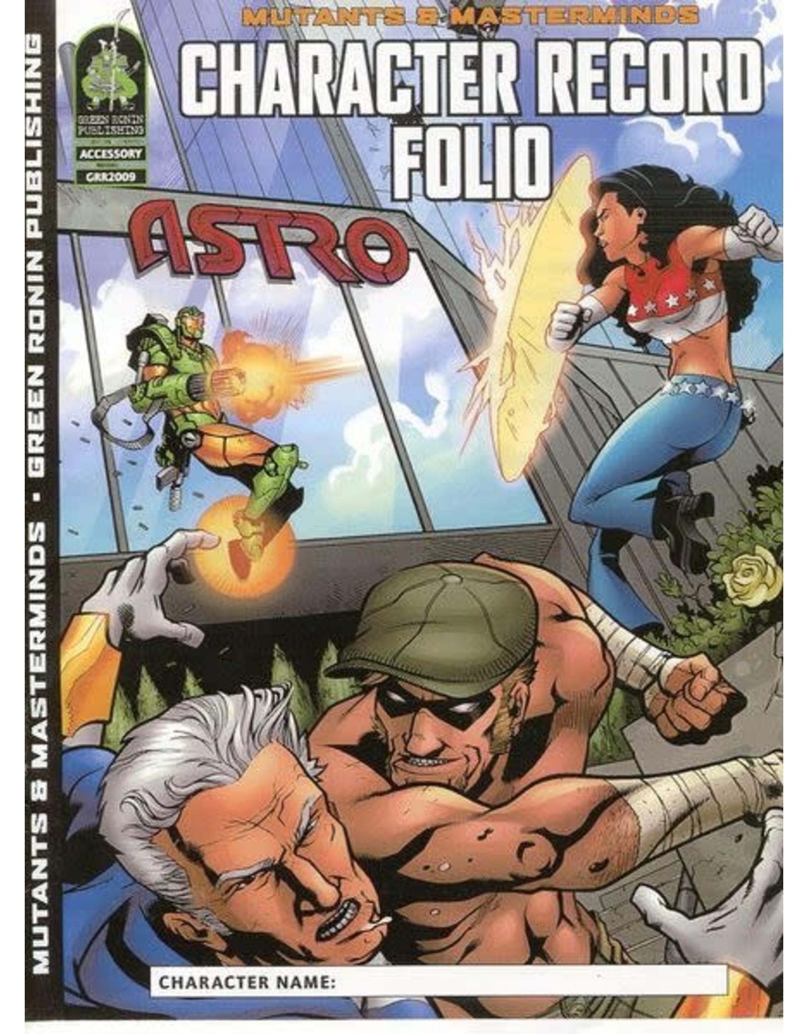Green Ronin Publishing SALE - Mutants & Masterminds 1E: Character Record Folio