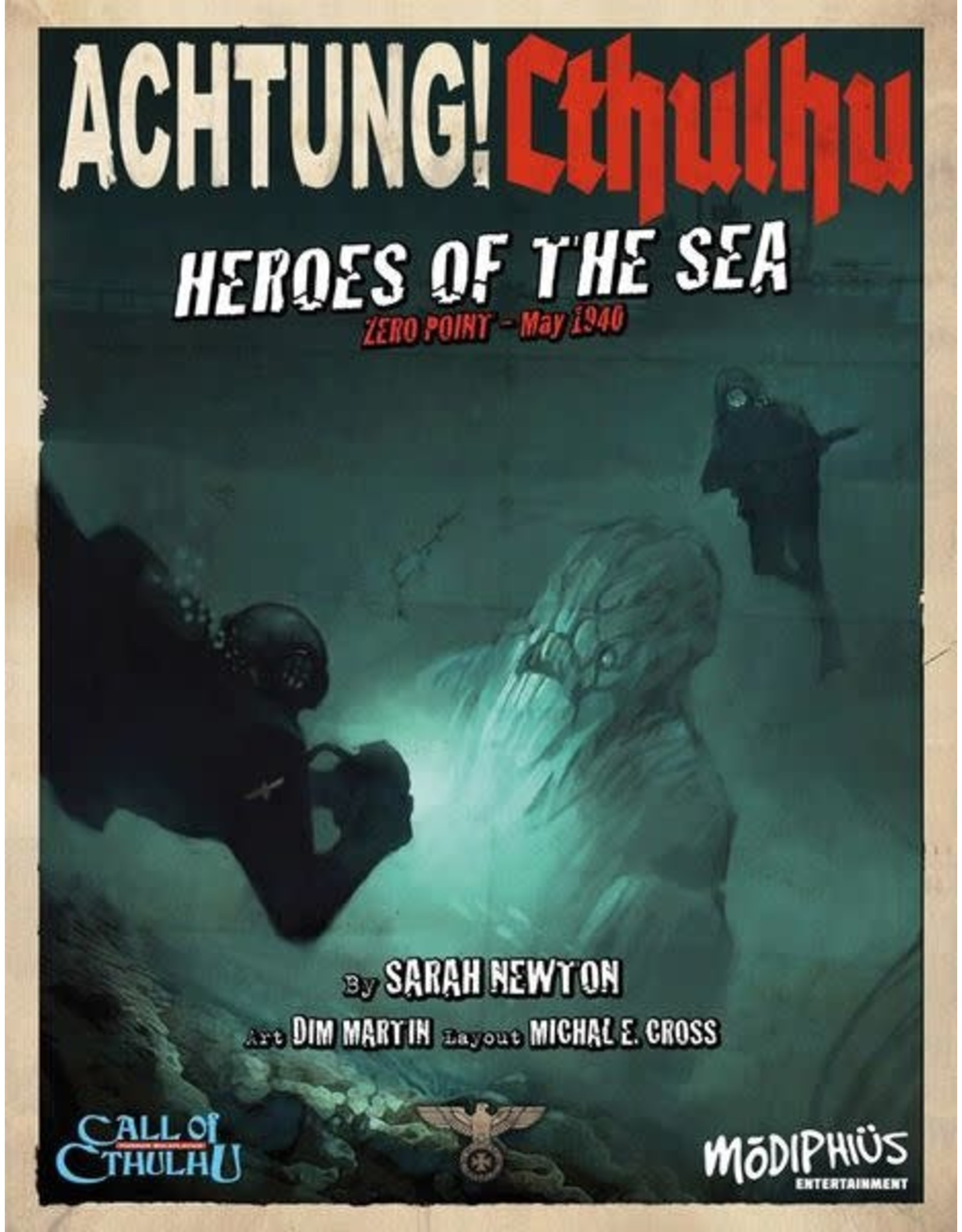 Modiphius Call of Cthulhu 6E: Achtung! Cthulhu: Zero Point II - Heroes of the Sea