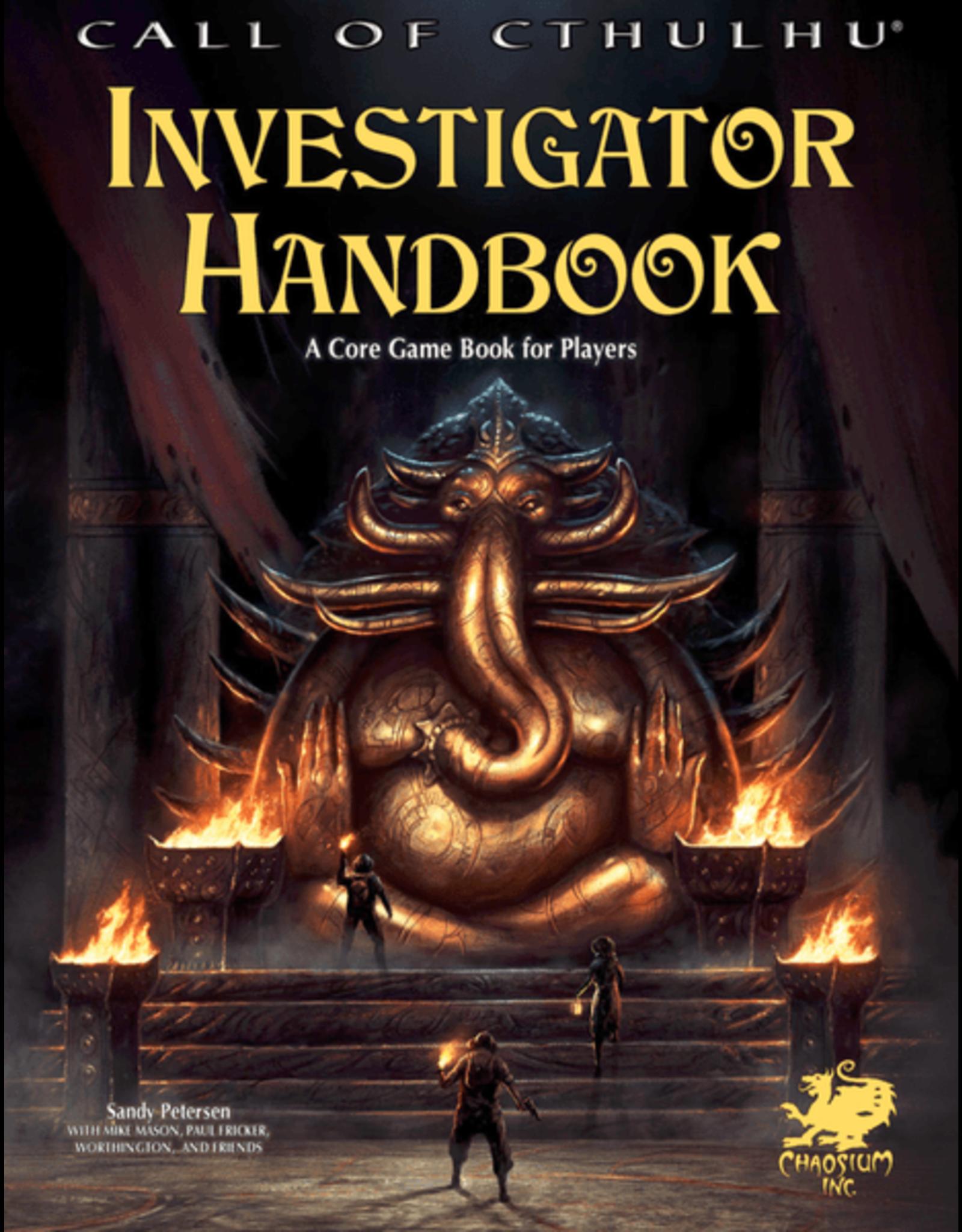 Chaosium Call of Cthulhu 7E: Investigator Handbook