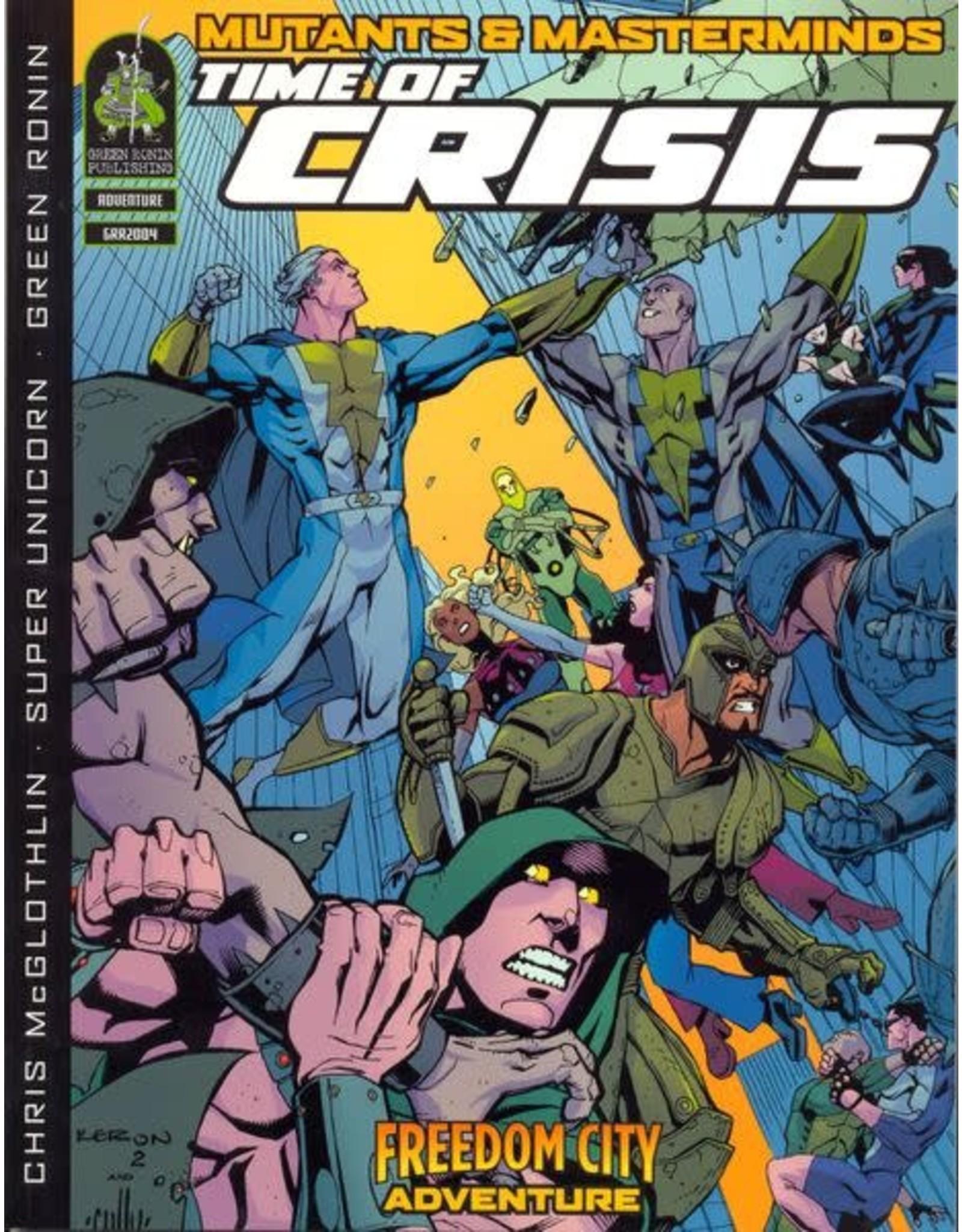 Green Ronin Publishing SALE - Mutants & Masterminds 1E: Time of Crisis