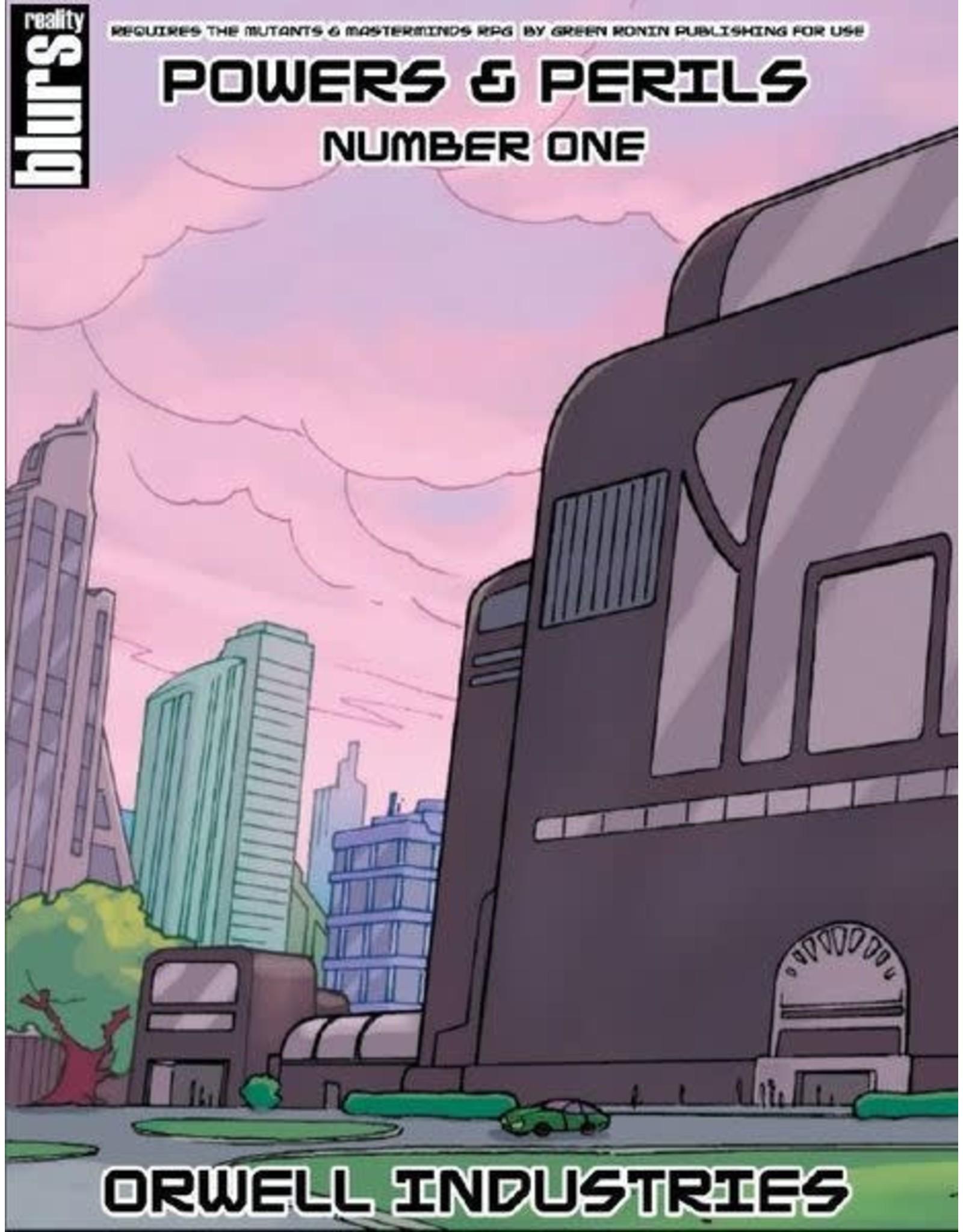 Studio 2 Publishing SALE - Mutants & Masterminds 2E: Powers & Perils #1 Orwell Industries