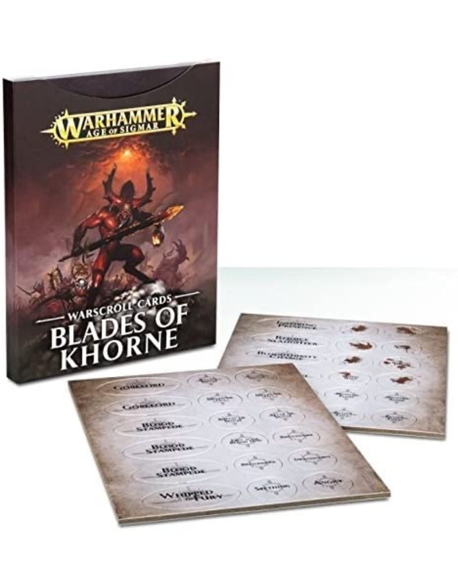 Games Workshop Blades of Khorne Warscroll Cards