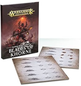 Games Workshop Blades of Khorne: Warscroll Cards