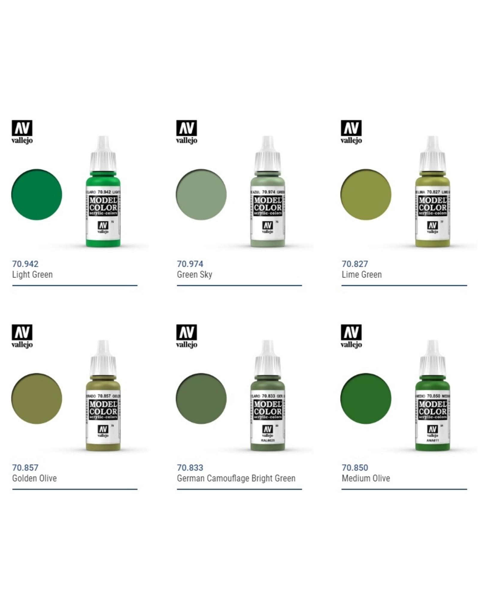 Vallejo Vallejo Model Colors: Green Shades