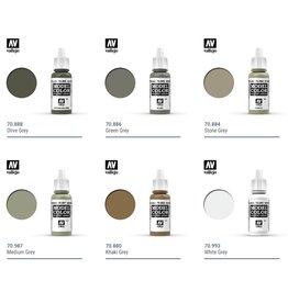 Vallejo Vallejo Model Colors: Black/Grey Shades