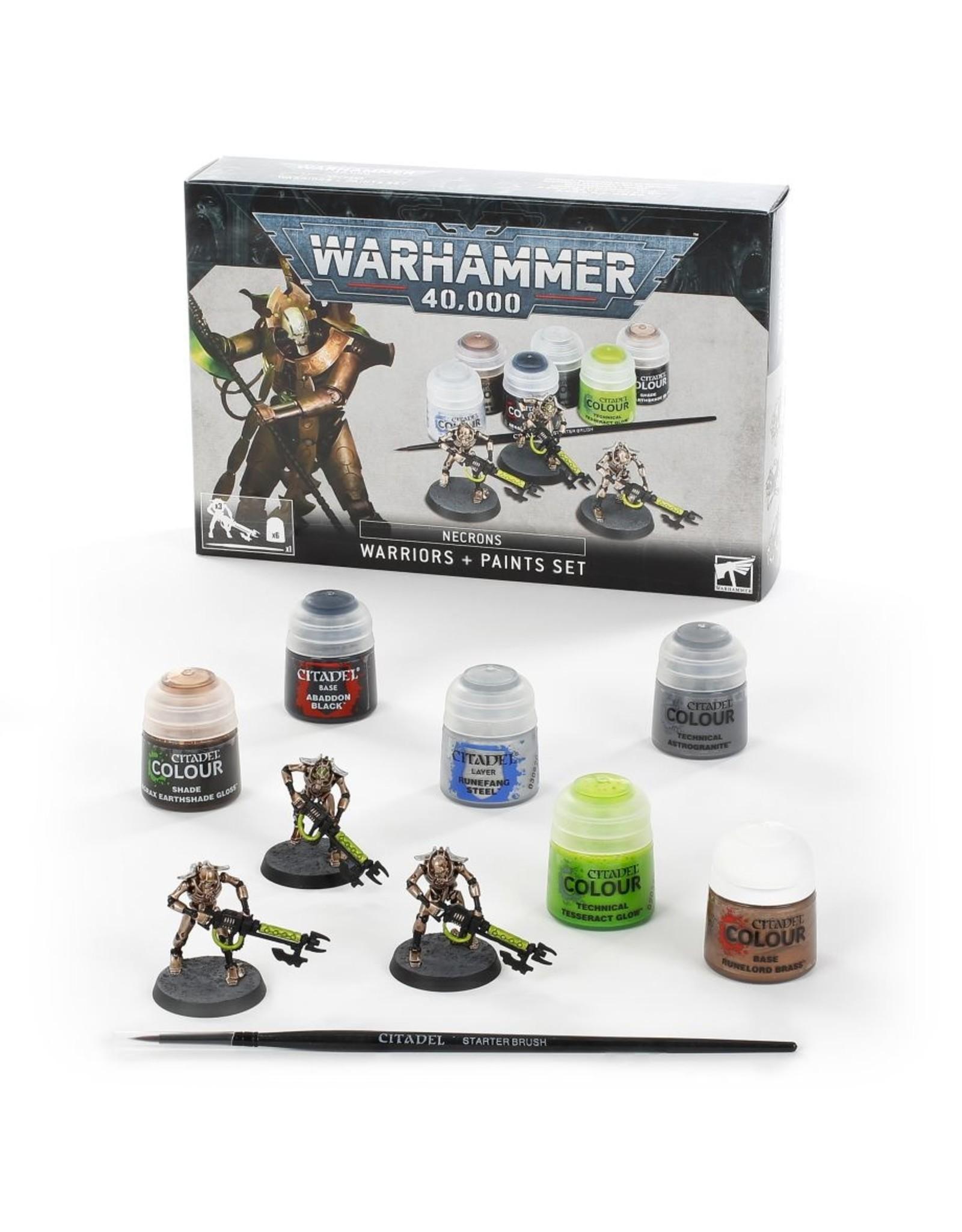 Games Workshop Necrons: Warriors + Paints Set