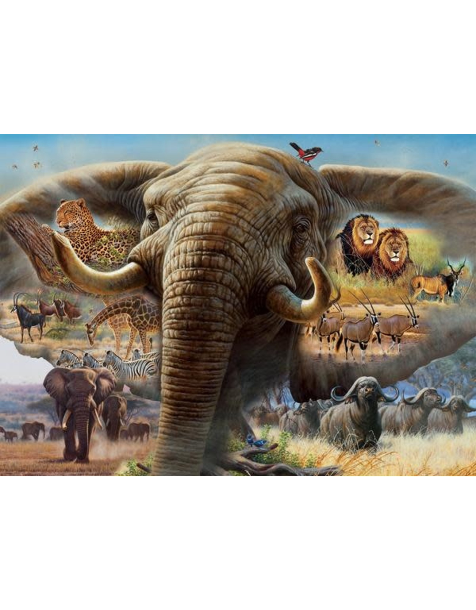 """Ceaco Wild Collection: """"Elephant Collage"""" 1000 Piece Puzzle"""