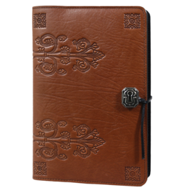 Oberon Design Small Wrapped Panel Leather Journal