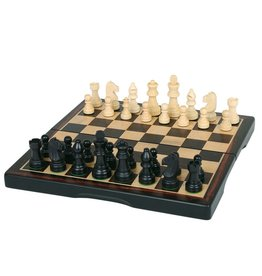"John Hansen 11"" Ebony 3-in-1 Folding Chess Set"