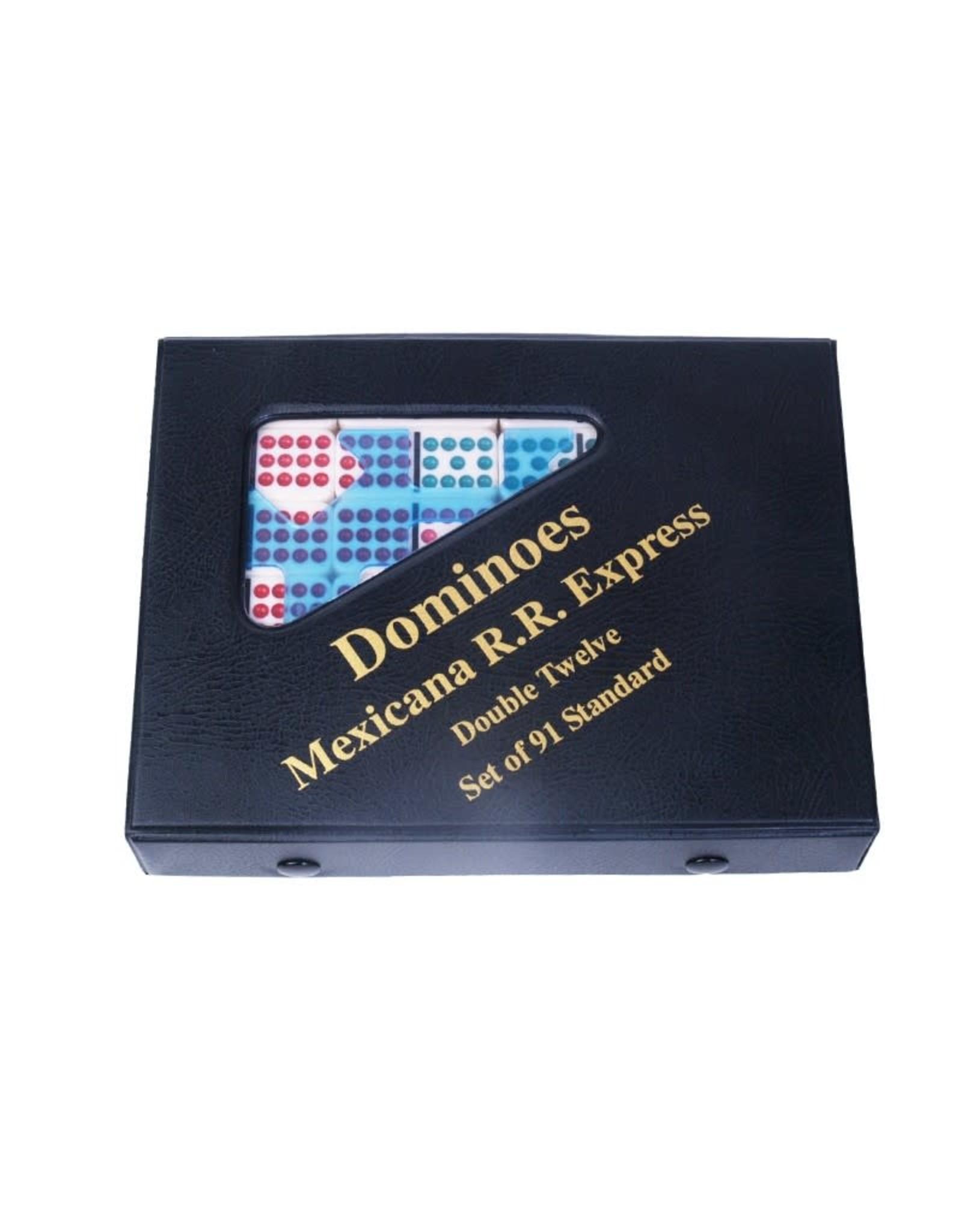 John Hansen Double-Twelve Mexican Train Dominoes Set