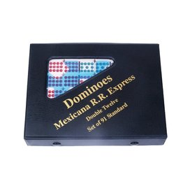 John Hansen Double-Twelve Mexican Train Dominoes Set