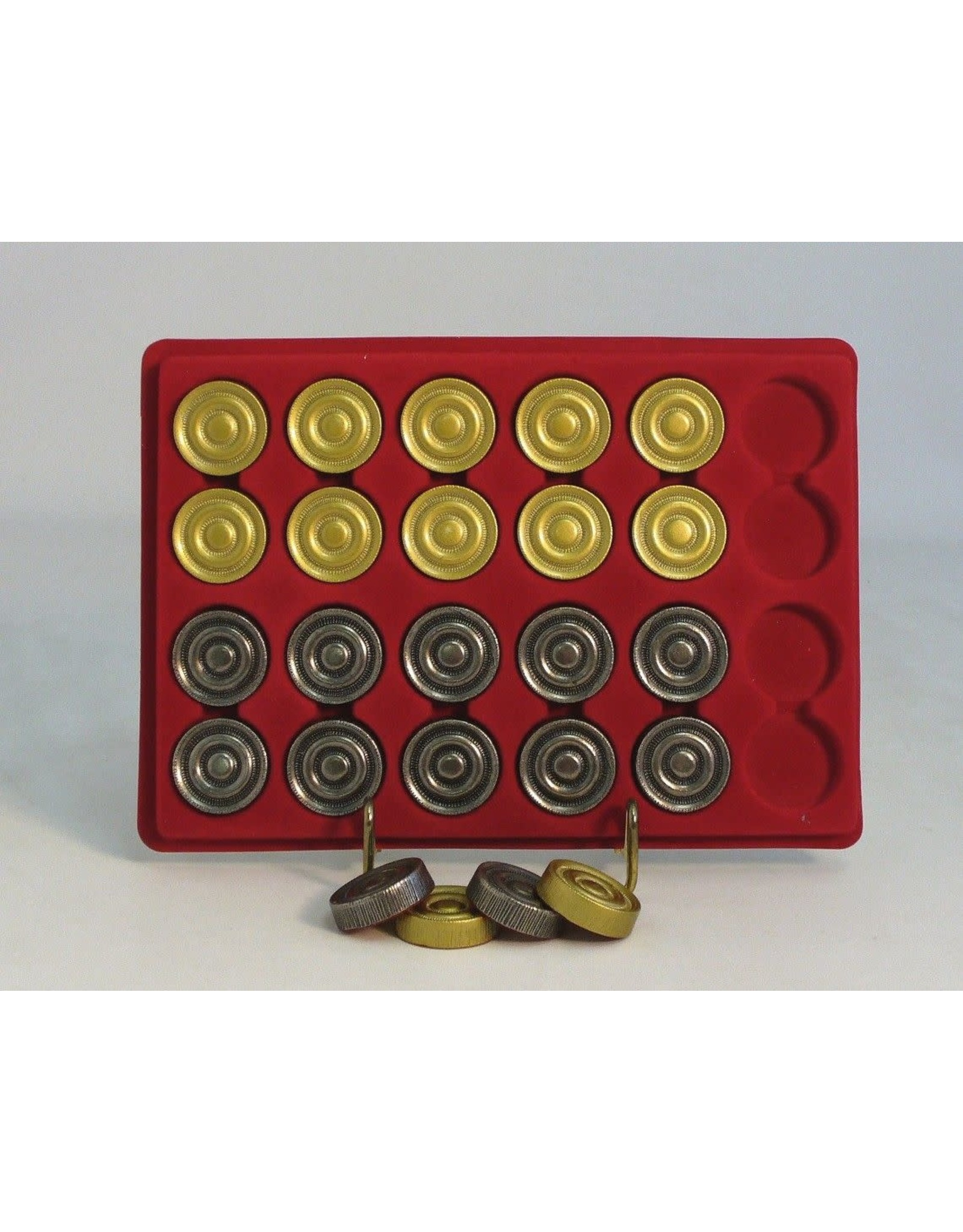 Worldwise Imports Brass and Pewter Checker Pieces