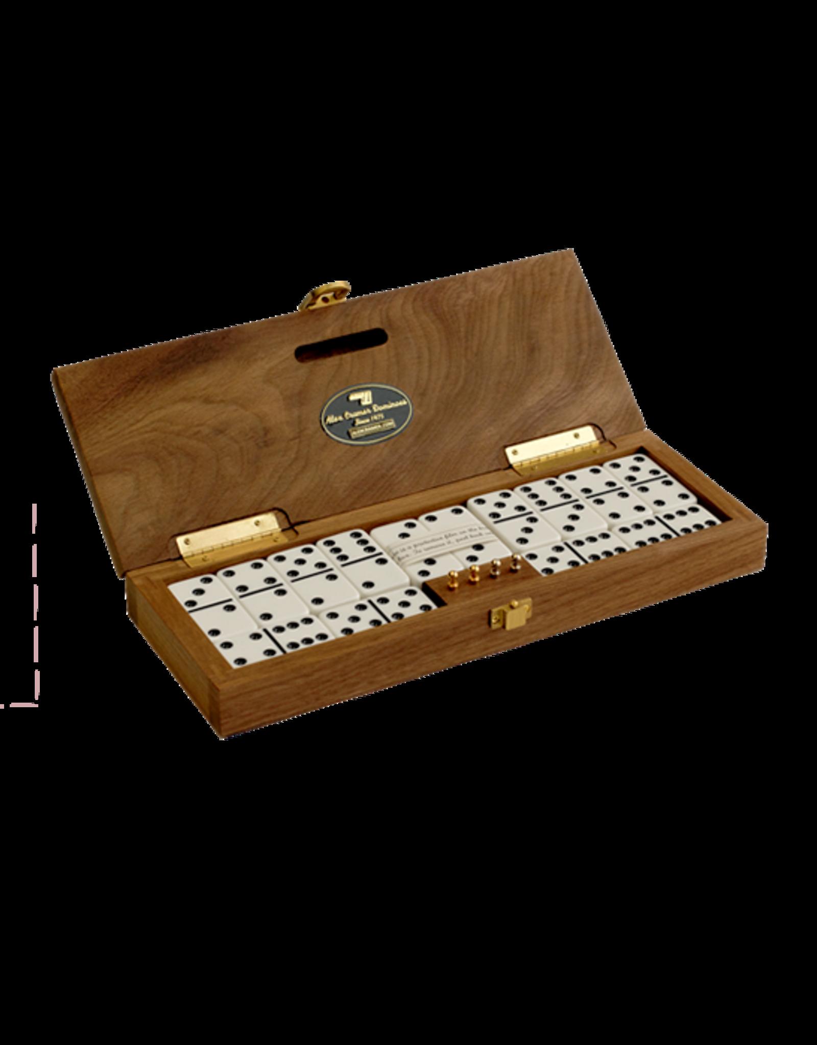 Alex Cramer Co. Mariner Domino Set with Walnut Box