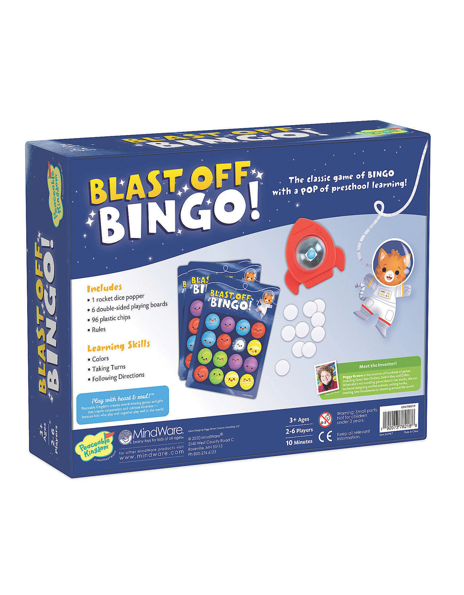 Peaceable Kingdom Blast-Off Bingo!