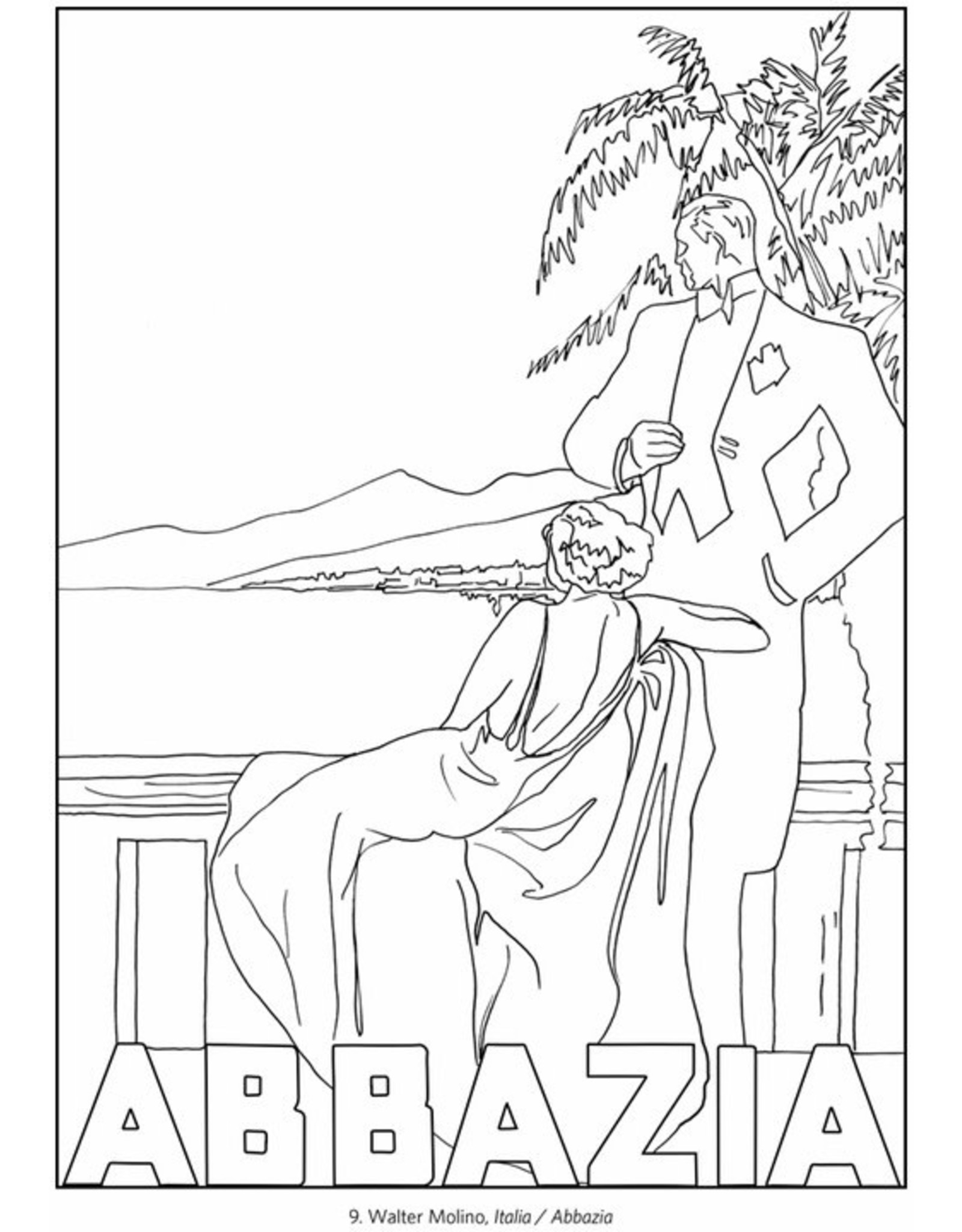 Pomegranate Italy travel Posters Coloring Book