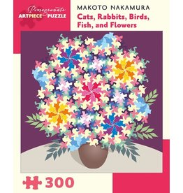 "Pomegranate ""Cats, Rabbits, Birds, Fish, and Flowers"" 300 Piece Puzzle"