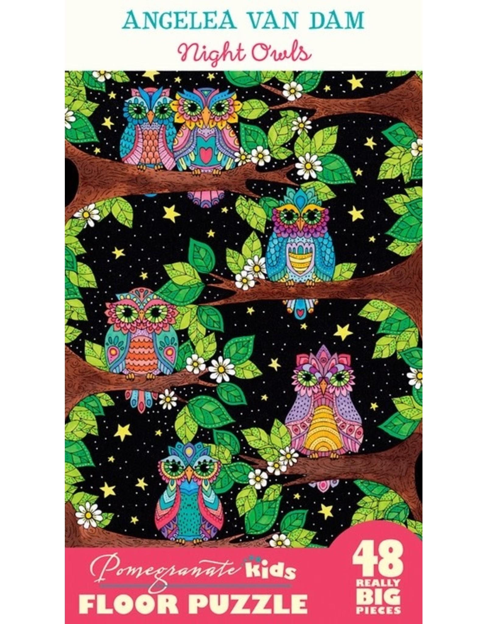 "Pomegranate ""Night Owls"" 48 Piece Floor Puzzle"