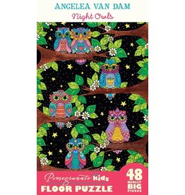 "Pomegranate ""Night Owls"" 48 Piece Floor Puzzle"