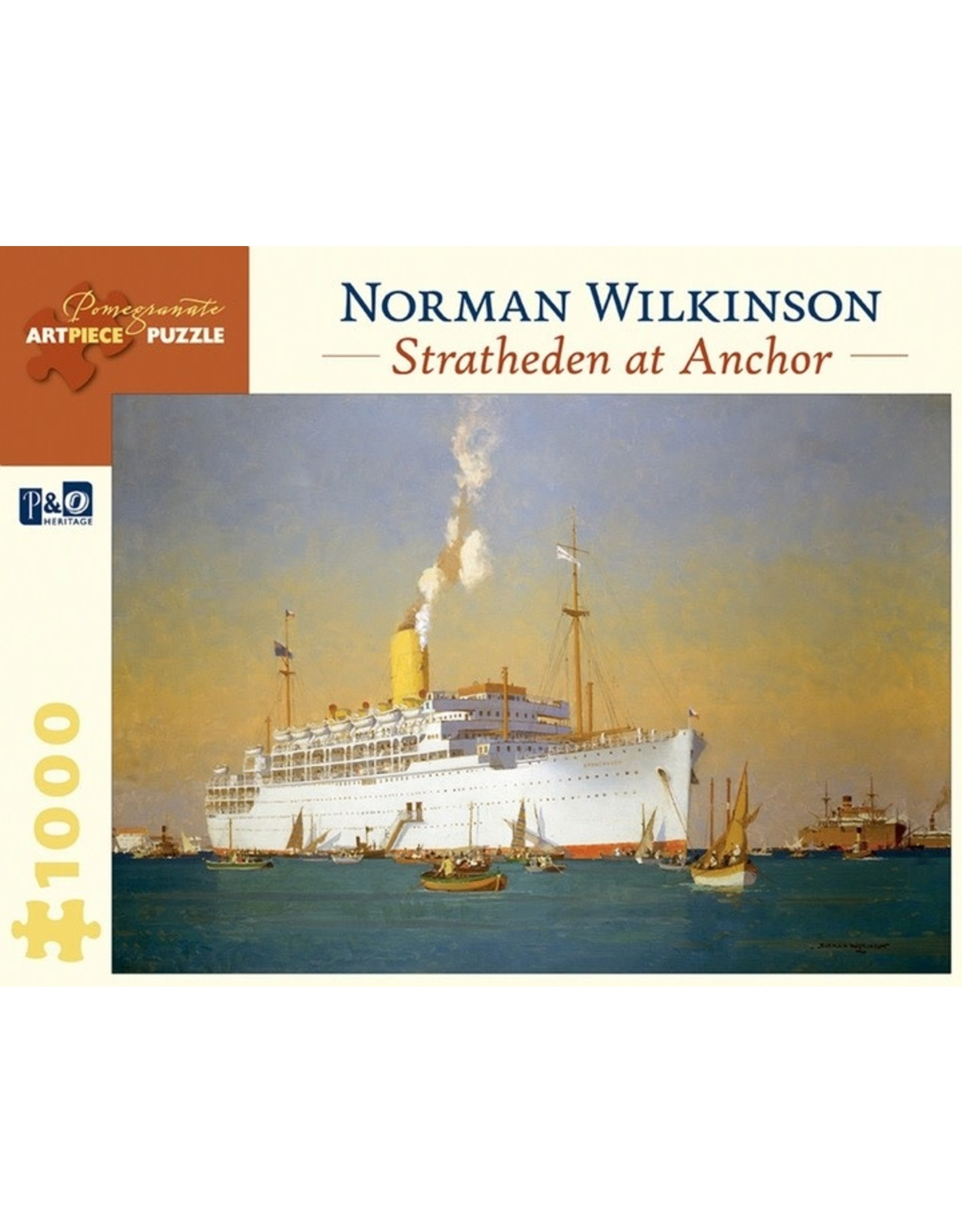 """Pomegranate """"Stratheden at Anchor"""" 1000 Piece Puzzle"""