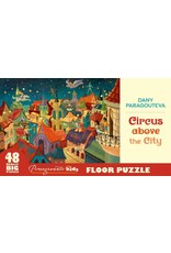 """Pomegranate """"Circus Above the City"""" 48 Piece Floor Puzzle"""